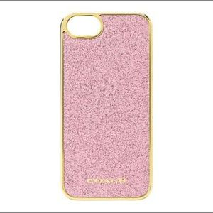 ✨NEW✨ Coach iPhone 5 Case In Glitter Inlay Molded